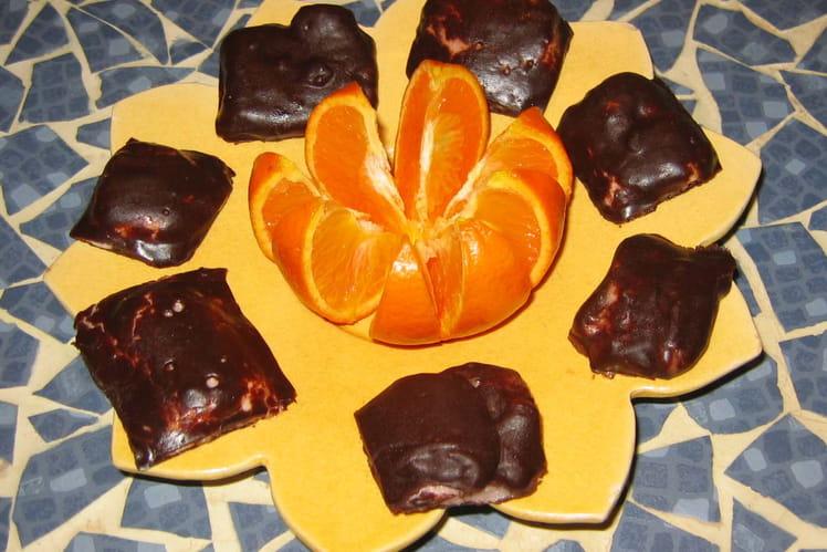 Carrés de guimauve au chocolat