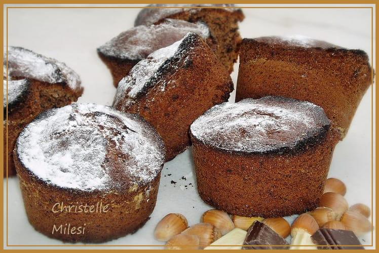 Gâteaux au chocolat et noisettes