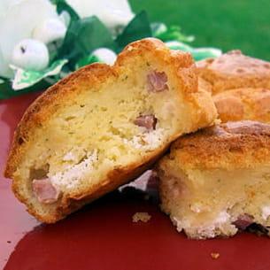 muffins jambon, chèvre et persil