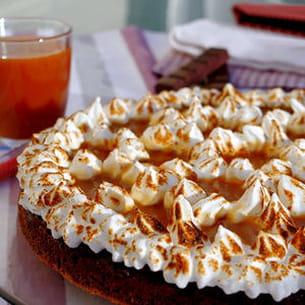 gâteau au chocolat meringué caramel au beurre salé