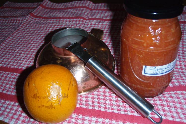 Gelée de groseille aromatisée à l'orange
