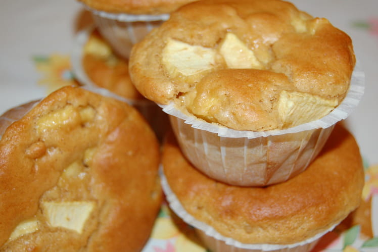 Muffins à la pomme et au beurre de cacahuète
