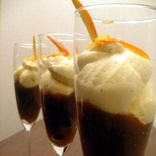 mousse de mascarpone à l'orange et au café