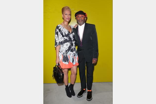 Spike Lee et Tonya Lewis Lee au défilé Prada