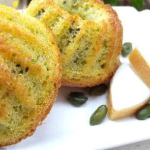 muffins aux calissons et aux pistaches