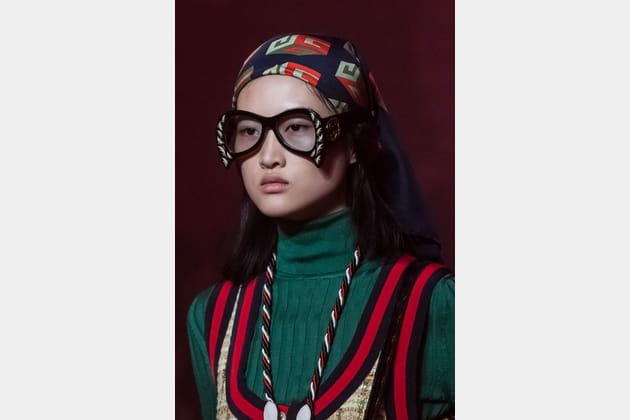 Les lunettes oversize du défilé Gucci