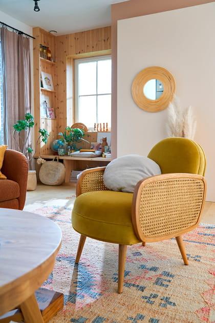 Fauteuil, tapis et table basse La Redoute Intérieurs
