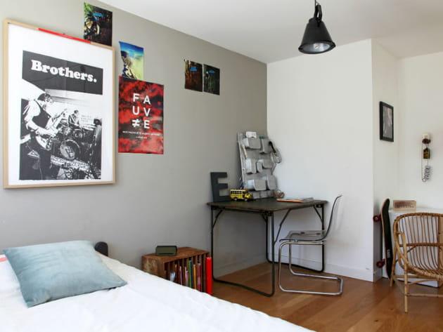 Une chambre d'ado mêlant modernité et récup'