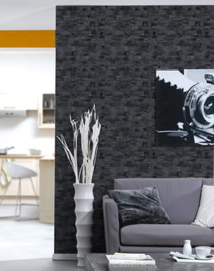papier peint imitation bois couleur gris anthracite de 4murs. Black Bedroom Furniture Sets. Home Design Ideas