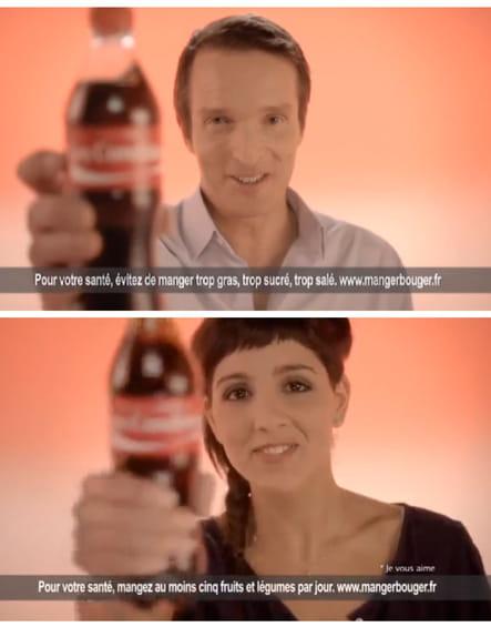 Stéphane Rotenberg et Naoëlle D'Hainaut bullent avec Coca-Cola