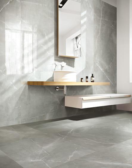 le carrelage effet marbre quel sol pour la salle de. Black Bedroom Furniture Sets. Home Design Ideas
