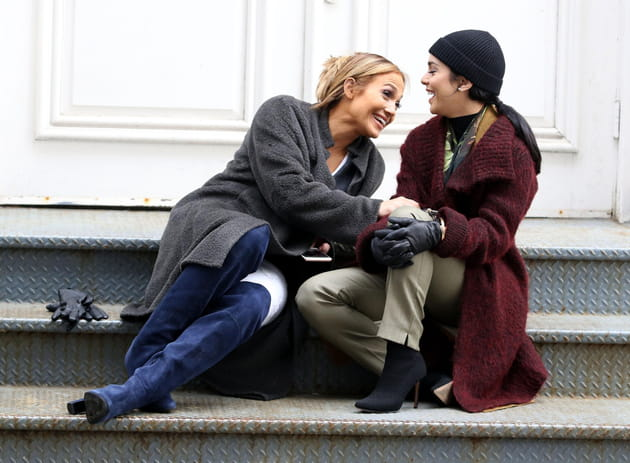 Jennifer Lopez et Vanessa Hudgens, en tournage à New York
