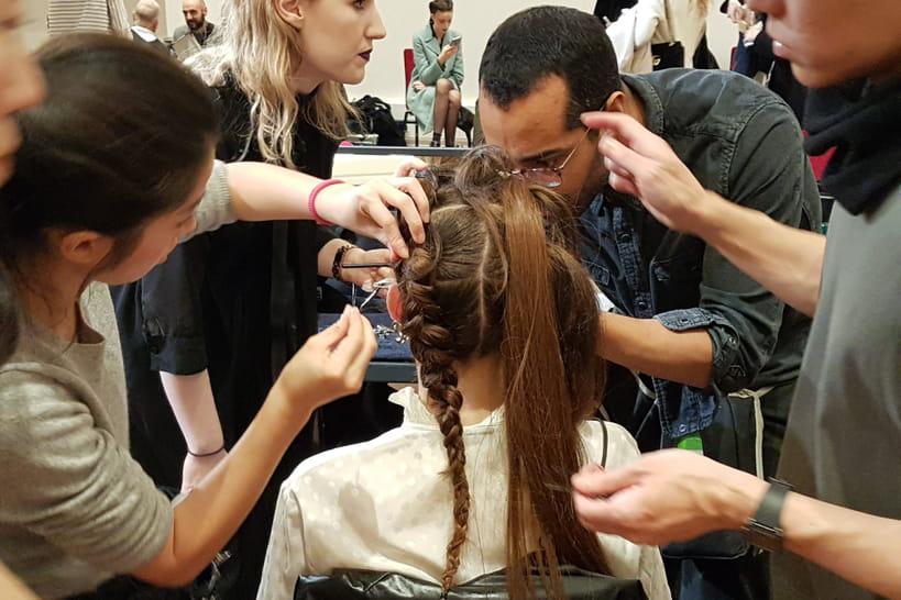 Le look beauté du défilé haute couture printemps-été 2018d'Alexis Mabille