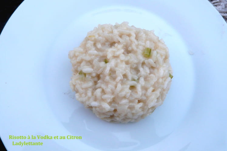 Risotto à la vodka et au citron