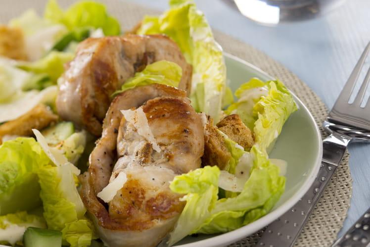 Salade de râbles Loeul et Piriot façon César