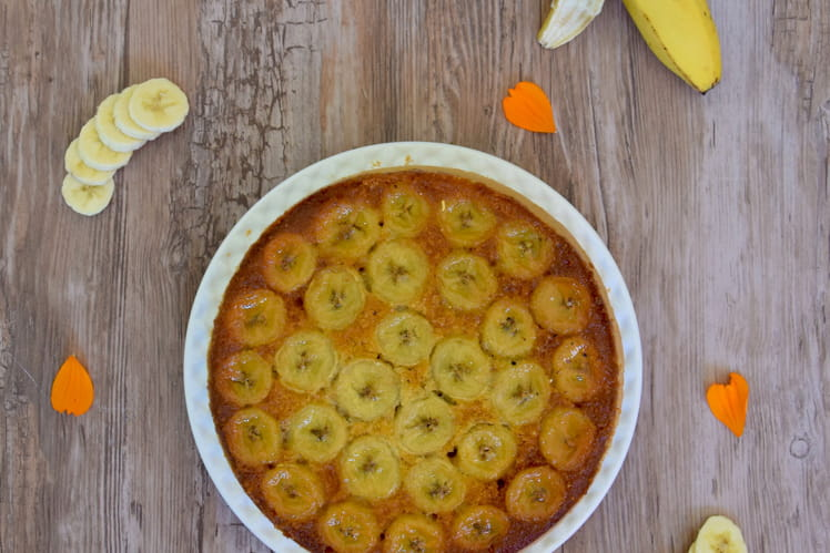 Gâteau renversé banane/noisette (sans gluten ni lactose)