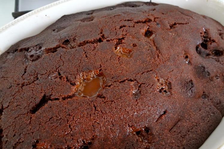 Gâteau poire chocolat caramel