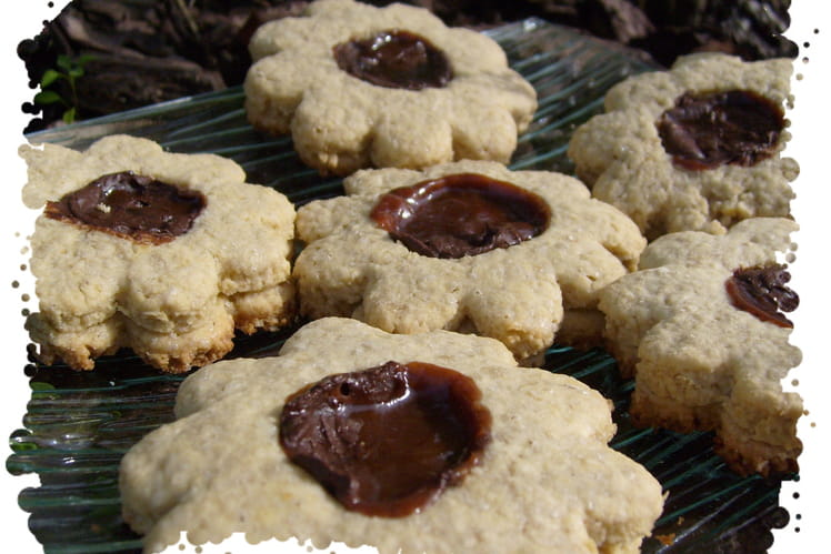 Biscuits avoine fourrés caramel