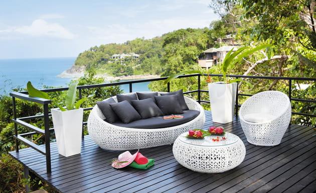 salon de jardin durban de maisons du monde. Black Bedroom Furniture Sets. Home Design Ideas