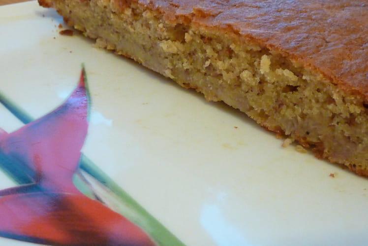 Gâteau des îles à la banane et rhum