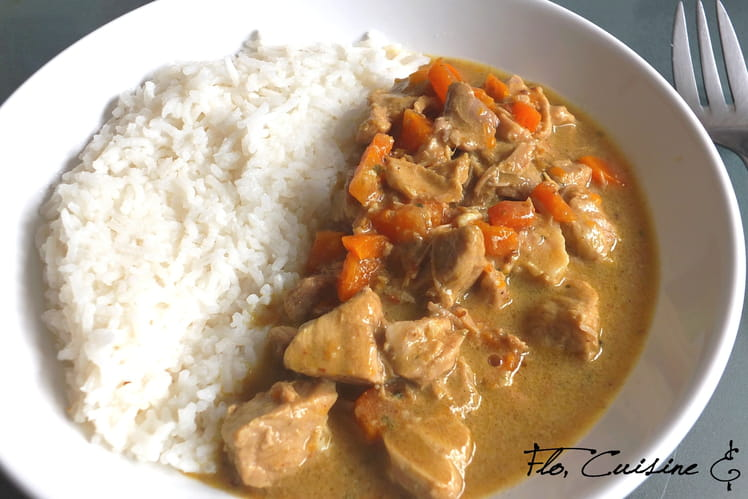 Porc au curry et carottes