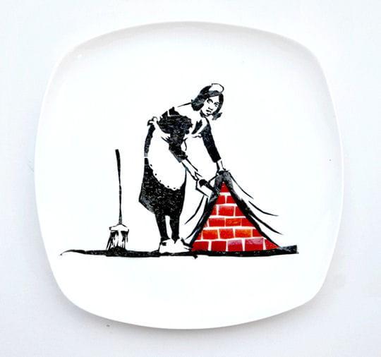 Banksy dans l'assiette