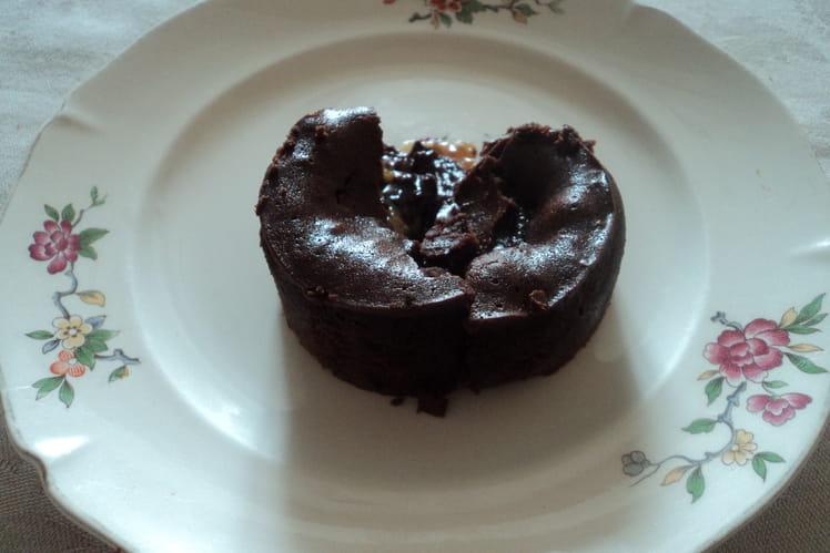 Moelleux chocolat coeur coulant caramel noix