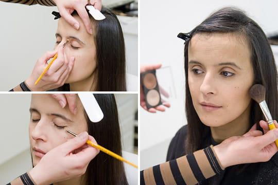 La séance de maquillage