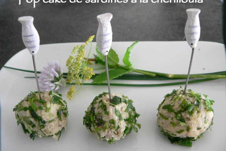 Pop cake de sardines à la chermoula