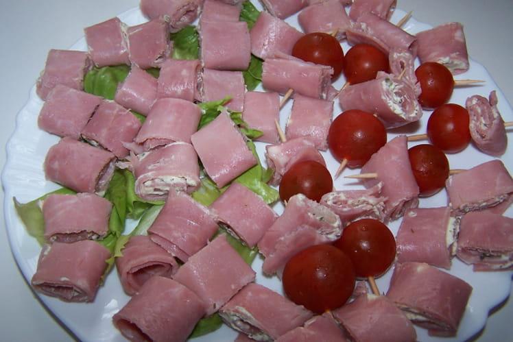 Roulés de jambon au fromage