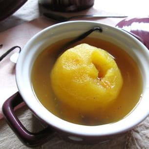 pommes pochées aux thés et épices
