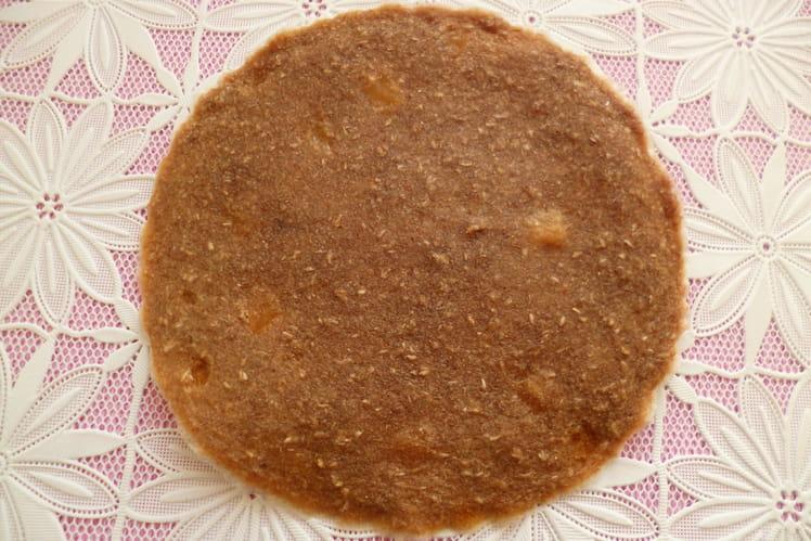 Pancake cru végan pomme poire au soja et au psyllium
