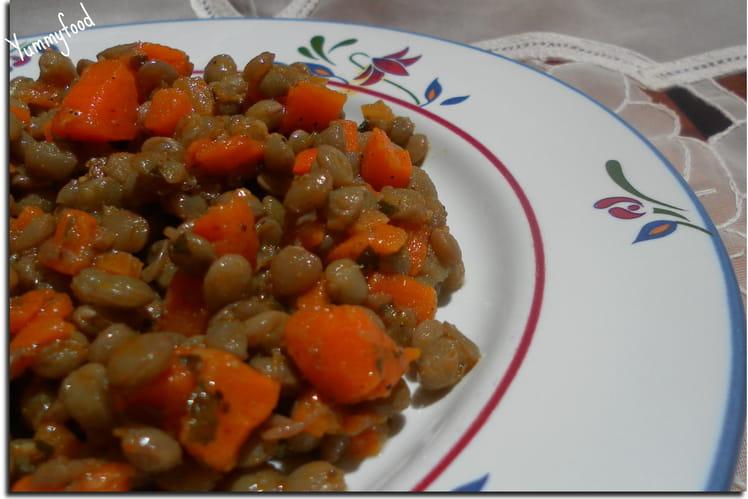 Salade lentilles-carottes à l'huile d'argan