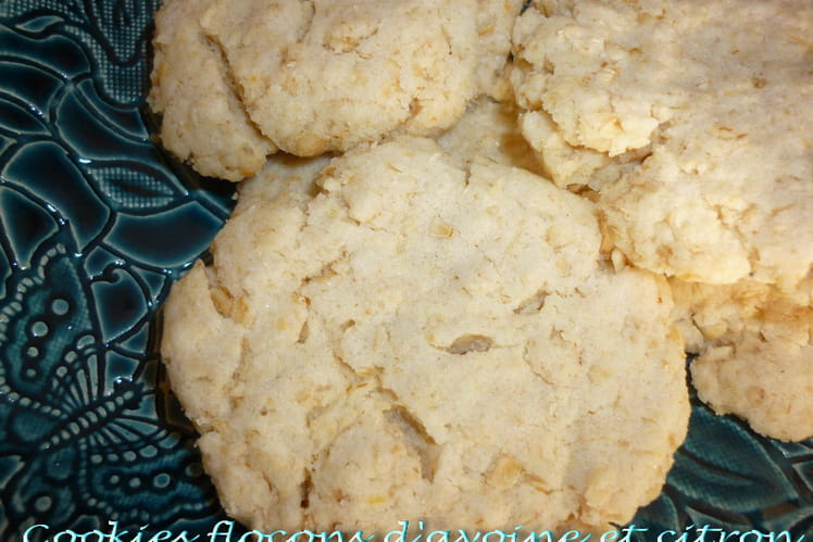 Cookies aux flocons d'avoine et citron