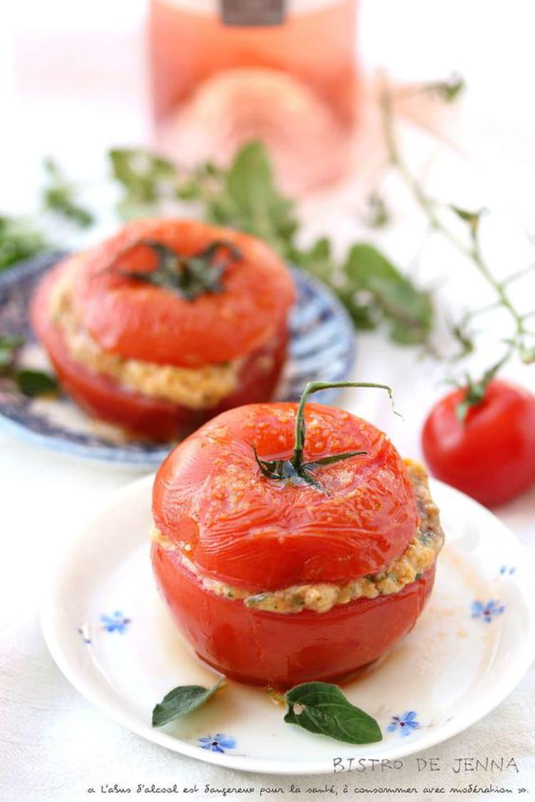Recette de tomates farcis persillade mozzarella et jambon for Plat unique convivial entre amis
