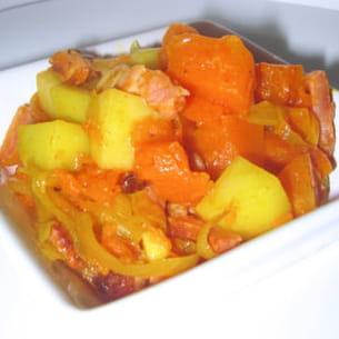 poêlée de potiron et pommes de terre
