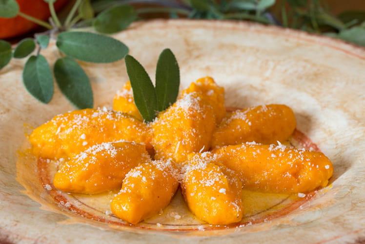 Gnocchi fondants de potiron au beurre de sauge et parmesan