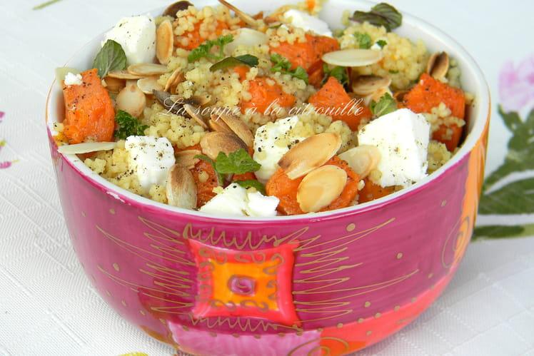 Salade de semoule épicée à la courge et à la feta