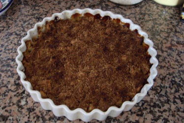 Crumble pommes gingembre