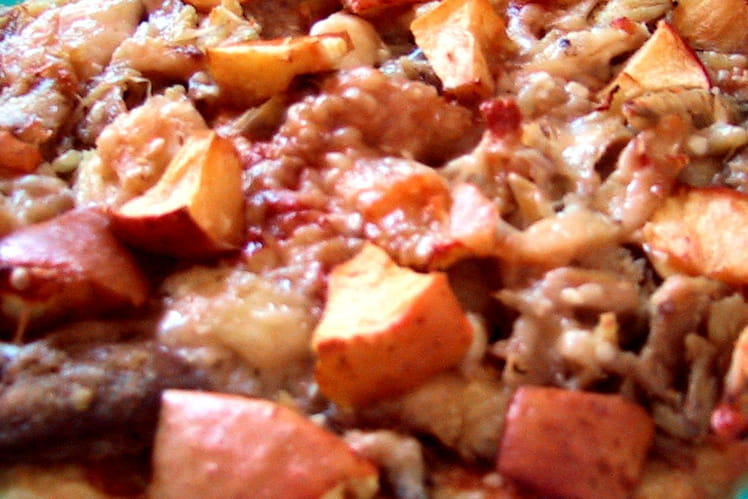 Pizza au poulet