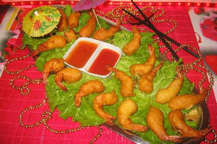 Beignets de crevettes au gingembre et citron vert