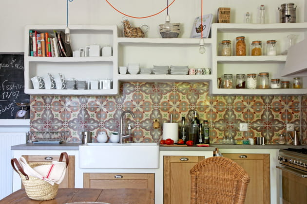 Une cuisine en I aux accents campagnards