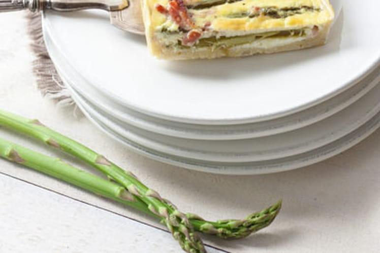 Quiche asperges, lardons et chèvre
