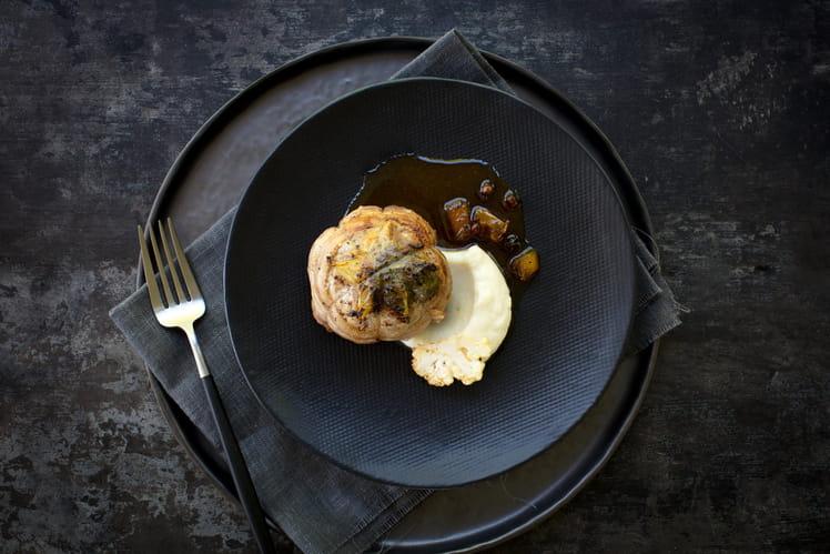Paupiettes de veau au beurre truffé