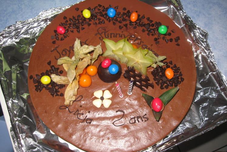 Croustillant aux gavottes, chocolat noir et praliné