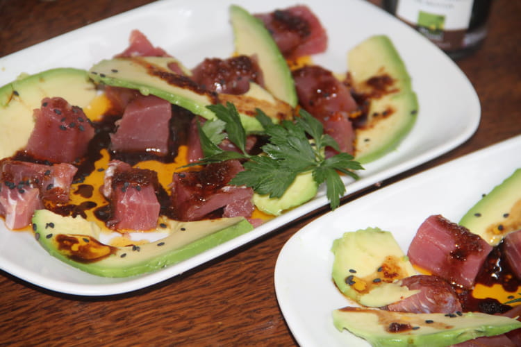 Recette De Dés De Thon Rouge à Lorange Et Au Vinaigre Balsamique - Cuisiner du thon rouge