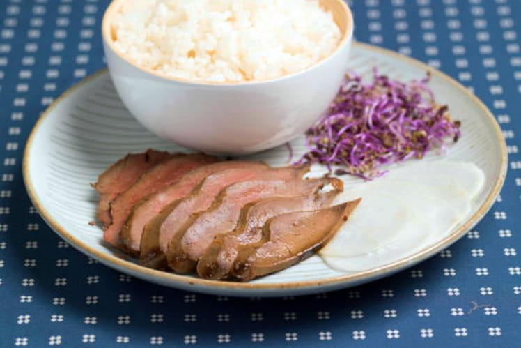 Takati de foie d'agneau et riz vinaigré