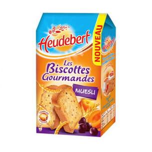 biscottes gourmandes au müesli de heudebert
