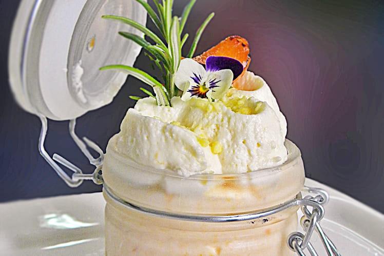 Verrine abricot romarin chocolat blanc coco