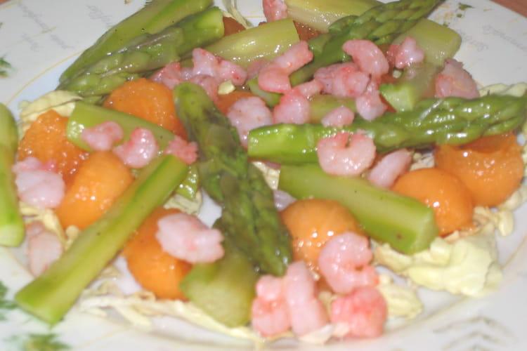 Salade d'asperges et melon